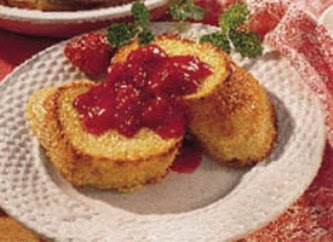 The Recipe File: Baked French Toast with Strawberry-Rhubarb Sauce