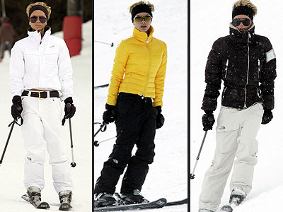 Victoria Beckham showing us her style hardly waivers on the slope.