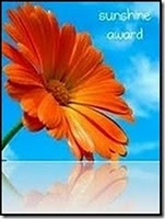 SUNSHINE AWARD FROM SYLVIA - TO BE PASSED ON TO 12 OF MY LOVELY FOLLWERS, LISTED BELOW.....!