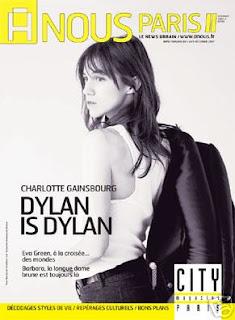 Charlotte Gainsbourg en couverture d'A Nous Paris (4 décembre 2007)