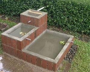 sampah diolah menjadi berkah: kolam taman air limbah