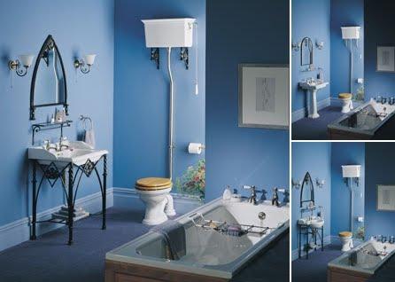 Dise os modernos en ba os cl sicos color azul fotos - Banos azules decoracion ...
