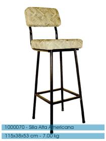 Sillas altas para desayunadores barras decoractual - Sillas barra americana ...