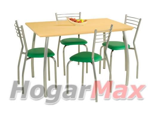 Comedores 4 ideales espacios peque os decoractual for Juego de comedor pequeno