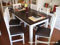 Comedores 4 ideales espacios peque os decoractual for Sillas blancas y negras