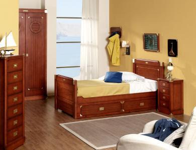 Dormitorios juveniles estilo marinero decoraci n n utica decoractual dise o y decoraci n - Dormitorios juveniles de madera maciza ...