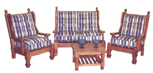 Living de Algarrobo Comedores de Algarrobo Dormitorios  - fotos de living con muebles de algarrobo