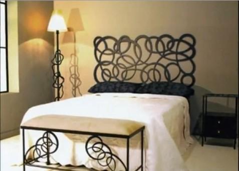 Dormitorios matrimoniales en forja decoraci n en negro y - Habitaciones de forja ...