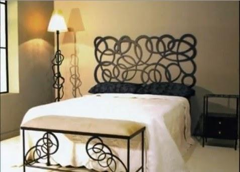 Dormitorios matrimoniales en forja decoraci n en negro y for Decoracion de recamaras para adultos