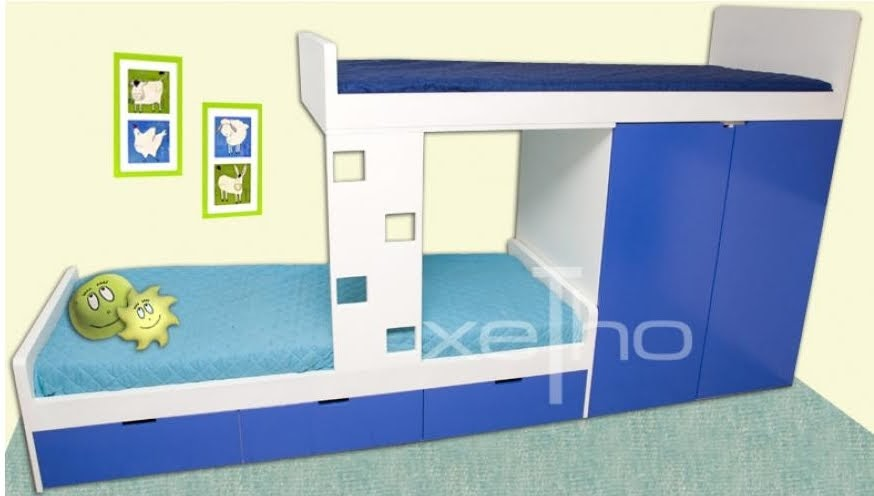 Dormitorios infantiles juveniles dobles con placard incorporado deco dormitorios - Dormitorios infantiles dobles ...