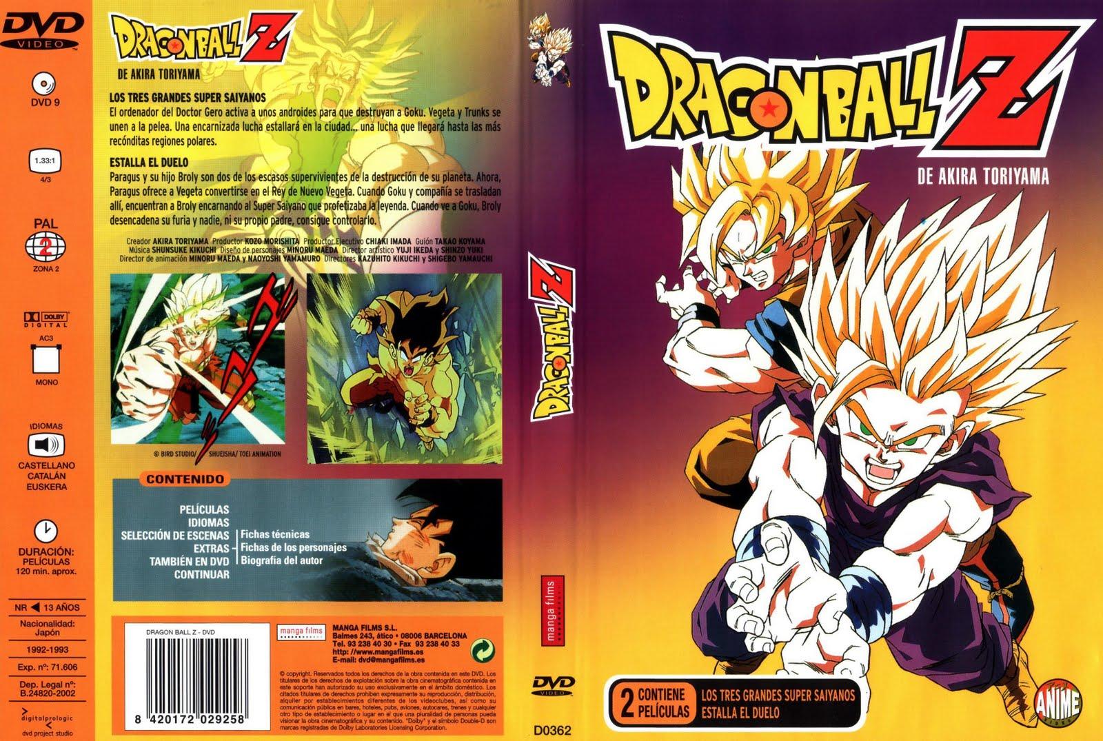 Etiquetas: Caratulas DVD Dragon Ball Z Las Peliculas Manga Films