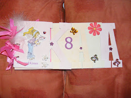 Kaia's 8th b'day card word book