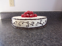 Brown and White Cake