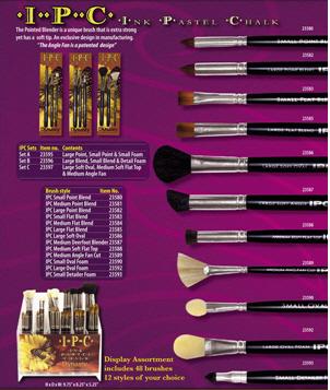 by Faux Kolinsky by Dynasty Short Handle Round Brush one brush Dynasty Faux Kolinsky Series 1114 - Size 0