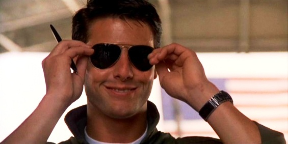 tom cruise top gun sunglasses. tom cruise risky business. tom