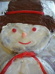 Snowman Cake - 3rd Birthday