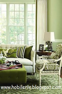 Интерьеры в светло-зеленом цвете