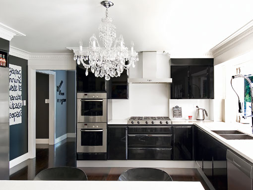 [modern+siyah+mutfak]
