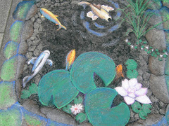 Koi pond.