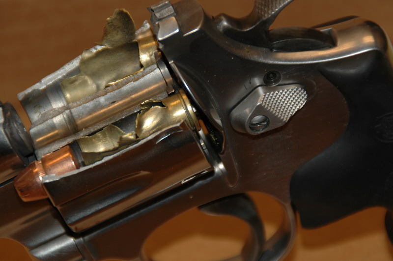 How would a revolver explode Explosive Handgun Rounds