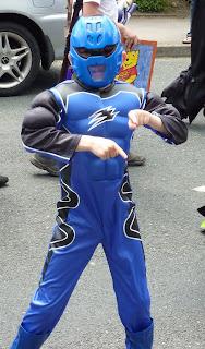 Our Chris as a Power Ranger
