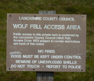 Old Wolf Fell Access Area Sign