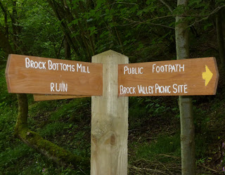 Signposts on the Brock Valley Trail
