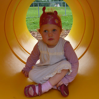 Tunnel - the toddler playground has been improved too