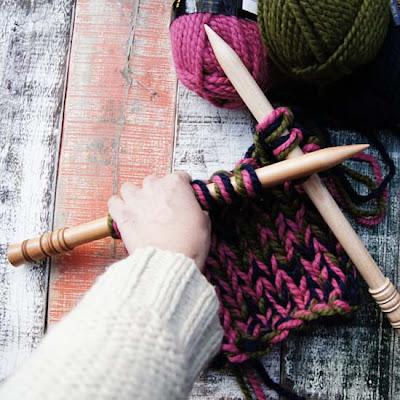 スリーナ編み針でビッグステッチ