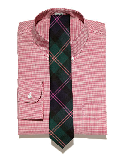 striped tie with a striped shirt. Vertical striped shirt +