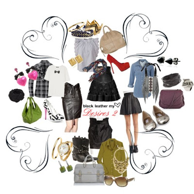 Mariel's_Castle_Polyvore_Set_Black_Leather_Skirts@http://marielscastle.blogspot.com