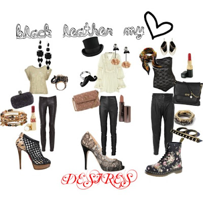 Mariel's_Castle_Polyvore_Set_Black_Leather_Pants@http://marielscastle.blogspot.com