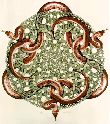 Snakes by MC Escher