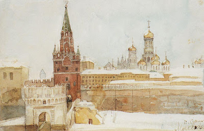 the kremlin in winter