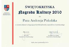 Nagroda Marszałka Województwa Świętokrzyskiego 2010 r.