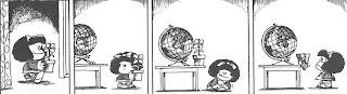 Mafalda mundo planta marchita cambia