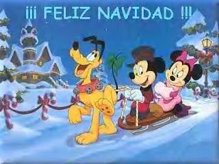 Micky Minnie Pluto feliz navidad