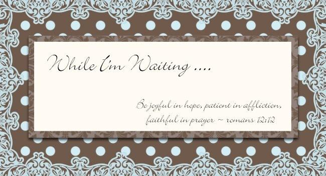 While I'm Waiting ...