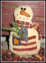 Lil Americana Snowman Pattern
