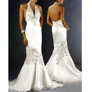 elegant white wedding dress mermaid