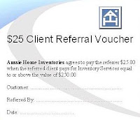 Aussie Home Inventories - Client Referral Program