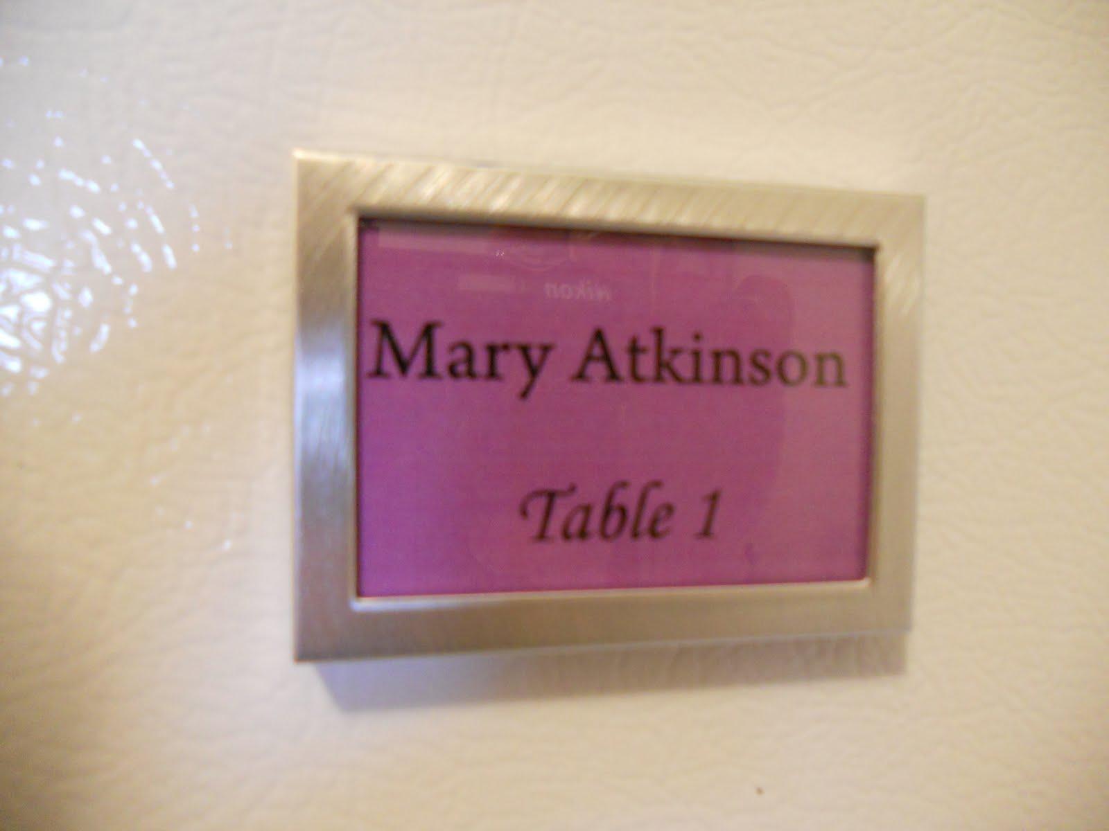 Razle Dazle Events: Mary and Doug\'s Wedding-Favours/Escort Cards