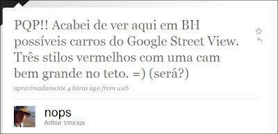 Carro do Google Street View Flagrado em Belo Horizonte