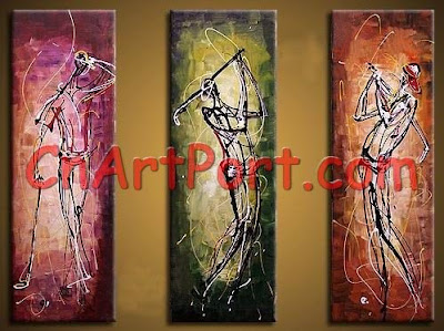Images  Paintings on Oil Paintings  Abstract Oil Painting   Triptych Decoration Painting