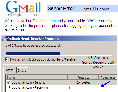 GMail Server Error