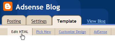 Adsense Blogger Template Code