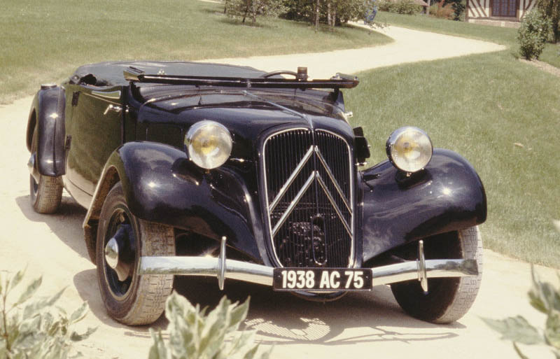Citroen Traction Avant 11B Cabrio, 1938. Click the picture to enlarge >>