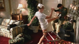 Yvonne Stahovski as a fighting nurse
