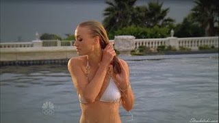 Yvonne Stahovski coming out of the pool