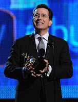 Spephan Colbert takes home a Grammy making his daughter proad